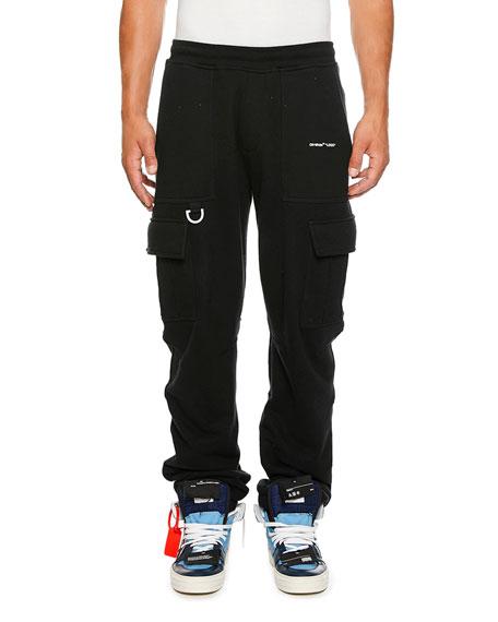 Off-White Men's Logo-Detail Cargo Sweatpants