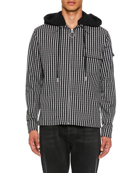 Off-White Men's Striped Hoodie Shirt