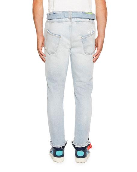 Off-White Men's Slim-Fit Low Crotch Denim Jeans