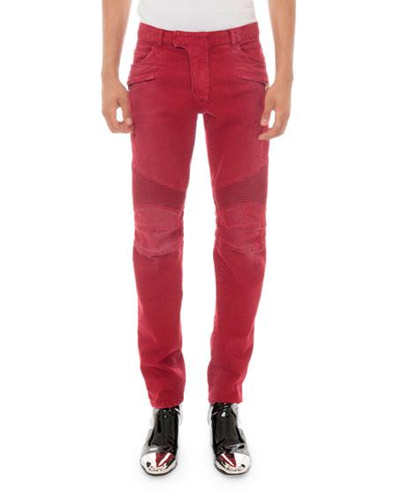 Balmain Men's Slim Biker Jeans