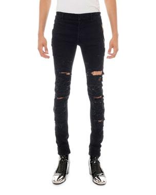 bce6fc3e Balmain Men's Destroyed Skinny Jeans