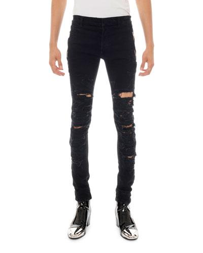 Men's Destroyed Skinny Jeans