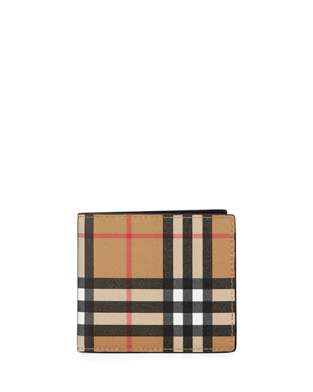 Vintage Check Leather Wallet