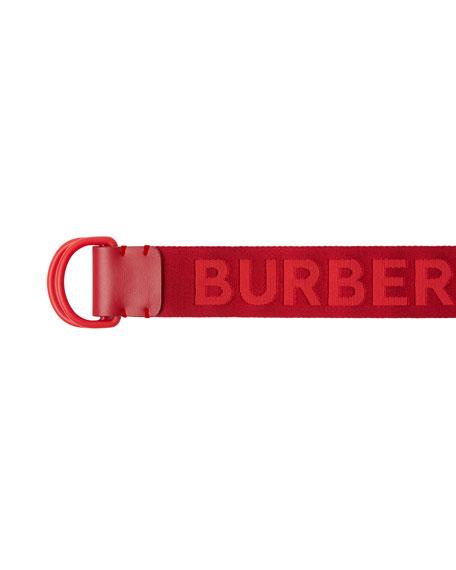 Burberry Men's Double D-Ring Nylon Belt