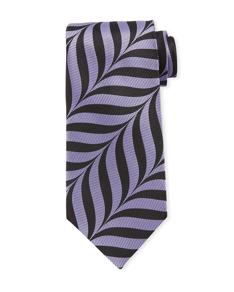 TOM FORD Abstract-Print 9cm Tie, Purple