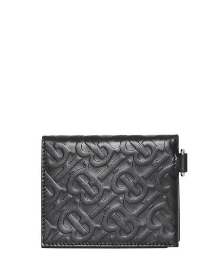 Burberry Men's Logo Embossed Leather Wallet