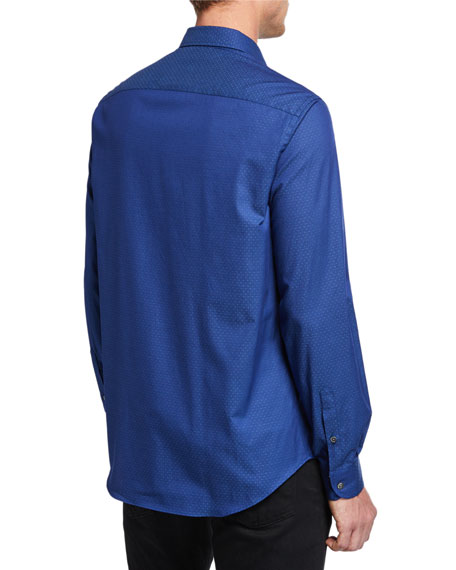 Emporio Armani Men's Pindot Sport Shirt