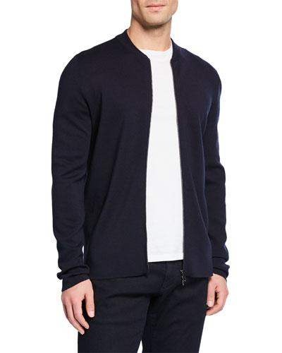 Men's Empire Wish Zip-Front Wool Sweater