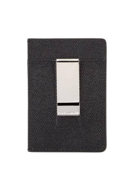 Dolce & Gabbana Men's Logo Money Clip Card Case