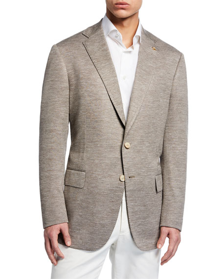 Stefano Ricci Men's Heathered Wool Two-Button Jacket