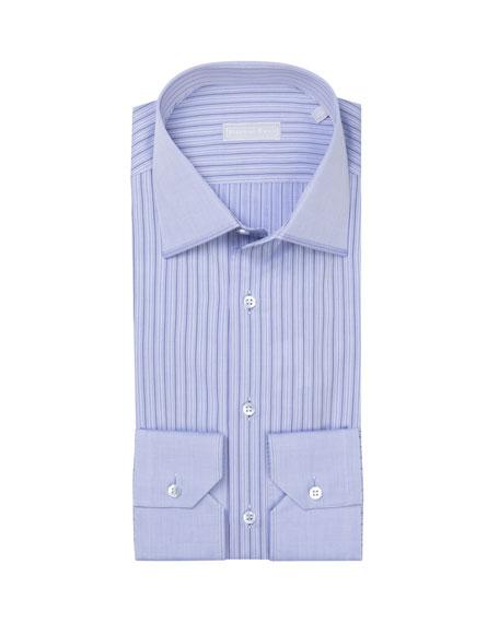 Stefano Ricci Men's Pattern-Striped Dress Shirt