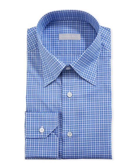 Stefano Ricci Men's Small-Check Dress Shirt
