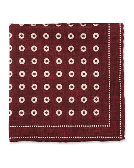 Brunello Cucinelli Dotted Silk Pocket Square