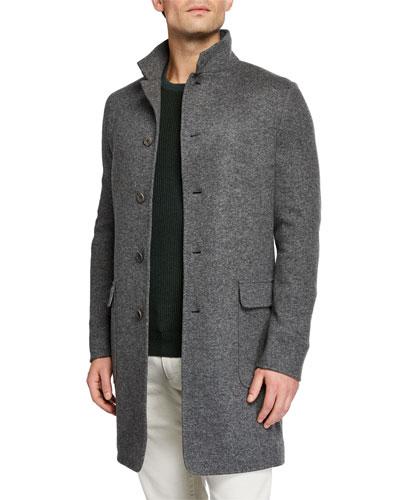 Men's Cashmere Sweater Coat