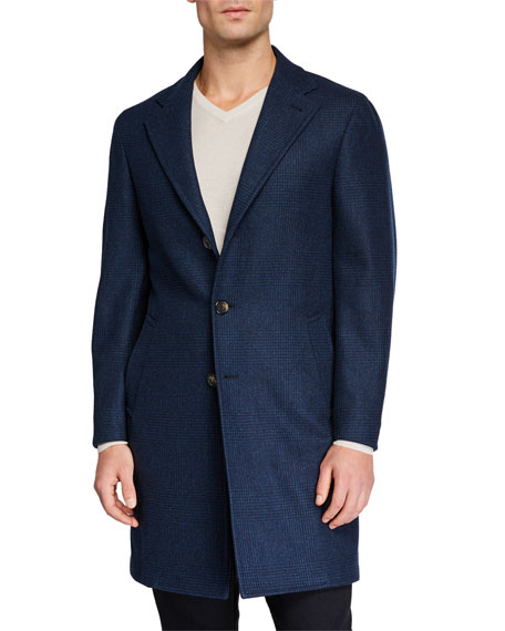 Loro Piana Men's Sartorial Tonal Plaid Coat