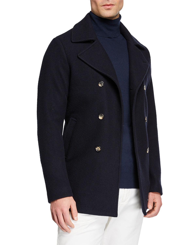 Men's Cashmere Pea Coat by Loro Piana