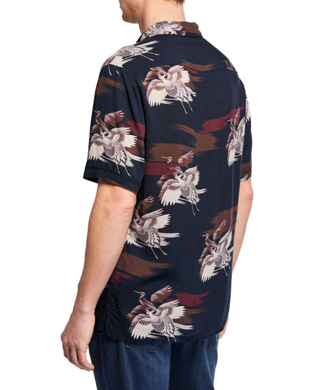 PAIGE Men's Landon Graphic Print Shirt
