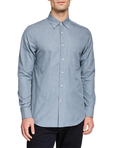 Loro Piana Men's Alfred Check Sport Shirt