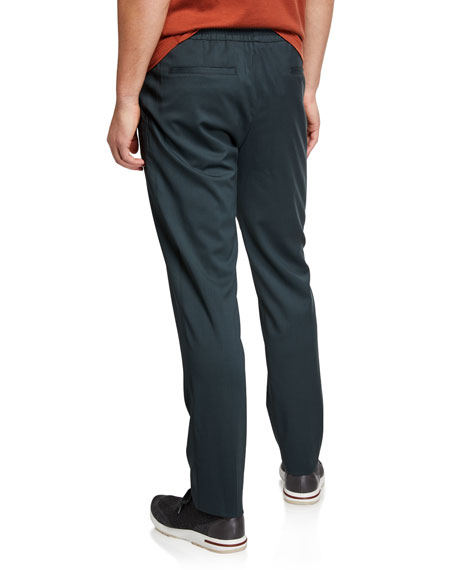 Loro Piana Men's Comfort Stretch-Wool Leisure Pants