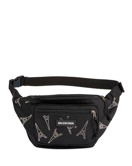 Balenciaga Men's Explorer Belt Bag w/ Eiffel Tower Embellishments