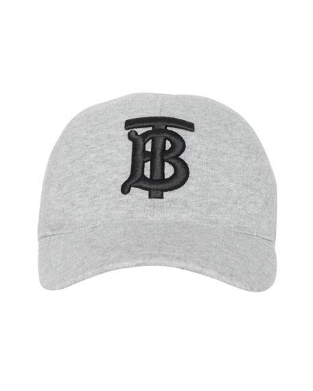 Burberry Men's TB Jersey Baseball Cap, Gray