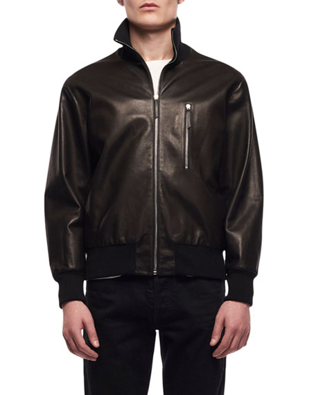 THE ROW Men's Liam Helicopter Leather Jacket