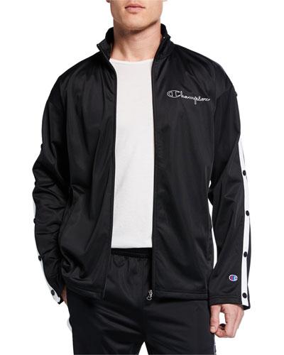 Men's Zip-Front Track Jacket w/ Side Snaps