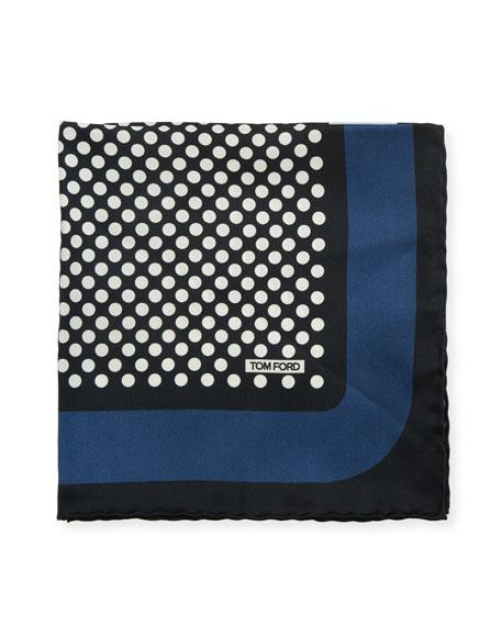 TOM FORD Polka Dotted Silk Pocket Square