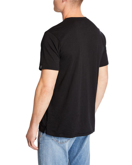 Rag & Bone Men's Bleach Logo-Print Short-Sleeve Cotton Tee