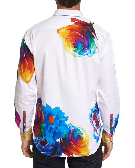 Robert Graham Men's Graphic Print Long-Sleeve Sport Shirt