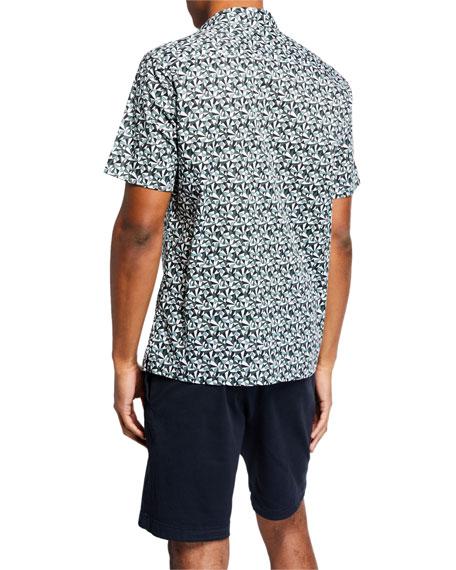 Theory Men's Irving Angle-Printed Shirt