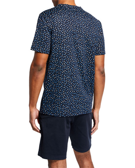 Theory Men's Angle-Patterned Short-Sleeve Essential T-Shirt