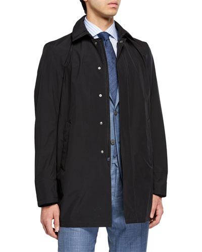 Men's City Trench Coat  Black