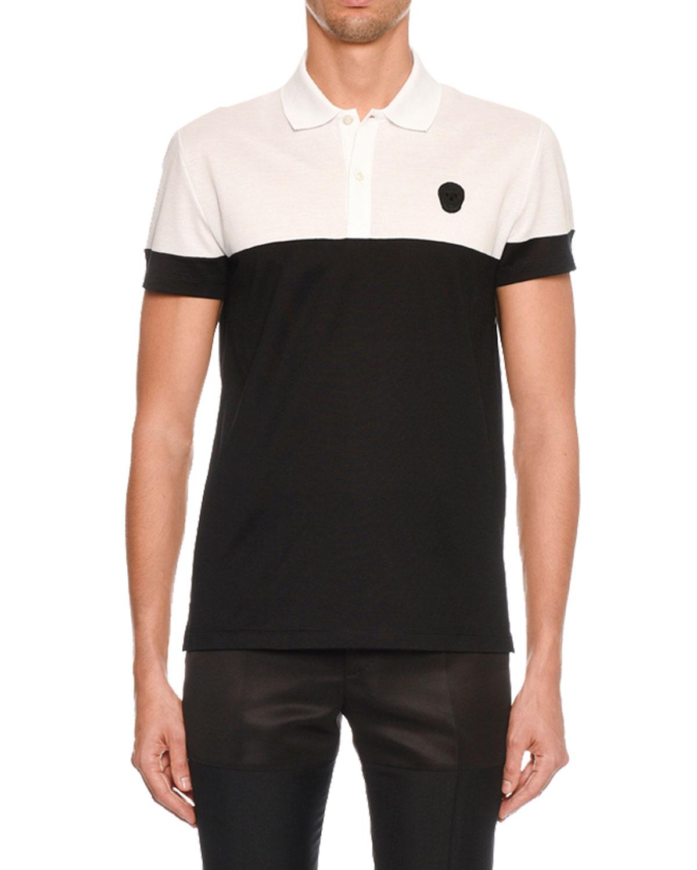 919b8cc83 Alexander McQueen Men's Short-Sleeve Pique Polo Shirt   Neiman Marcus