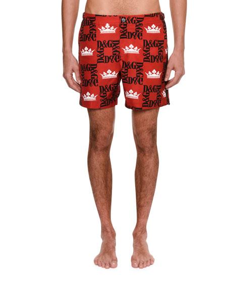 Dolce & Gabbana Men's Logo Swim Trunks