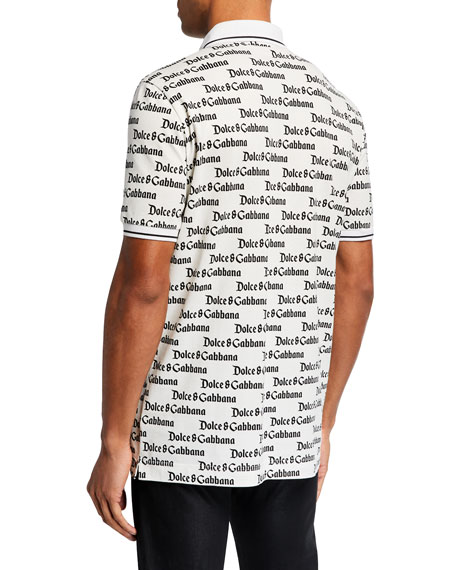 Dolce & Gabbana Men's Allover Logo Polo Shirt