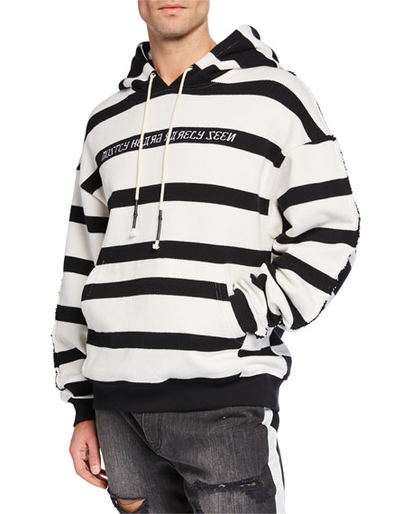 Mostly Heard Rarely Seen Men's Hype Man Striped Hoodie