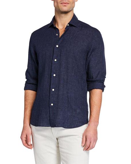 Culturata Men's Soft-Washed Linen Sport Shirt