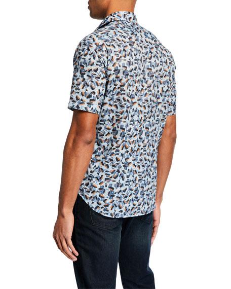 Culturata Men's Soft Brushstrokes Short-Sleeve Sport Shirt