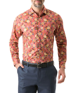 9229002555c353 Rodd & Gunn Men's Southwark Floral-Print Button-Down Shirt