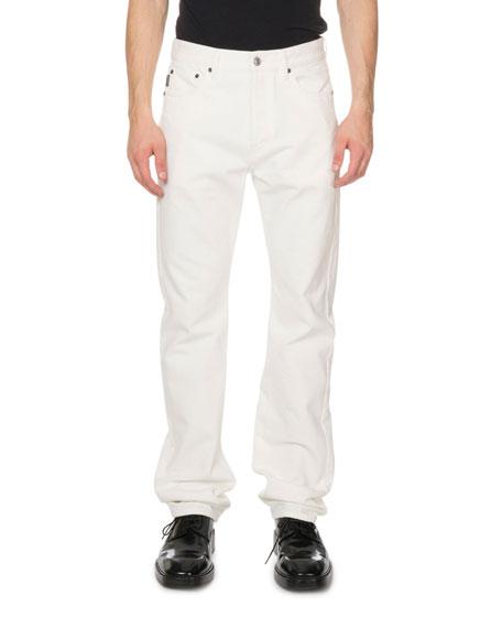 Balenciaga Men's Standard Fit Jeans, White