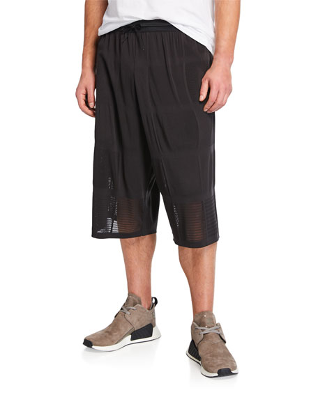 Y-3 Men's Patchwork Mesh Basketball Shorts