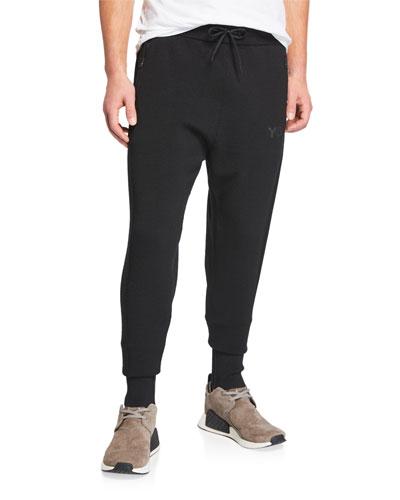 Men's Knitted Tapered-Leg Track Pants