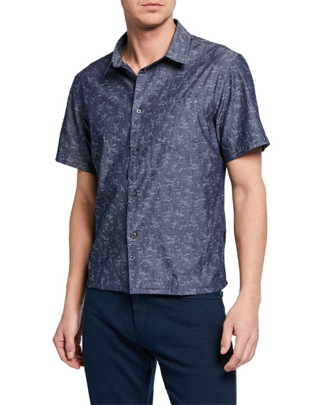 John Varvatos Star USA Men's Trent Short-Sleeve Sport Shirt