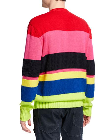Iceberg Men's Multi-Stripe Cotton Sweater