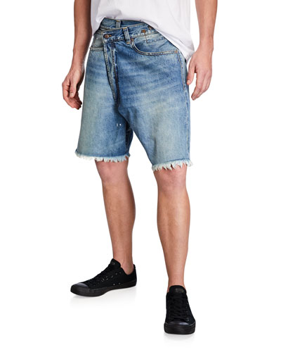 Men's Crossover Denim Shorts