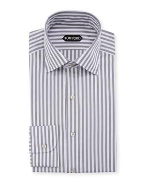 609faabae7 TOM FORD Men's Summer Stripe Dress Shirt