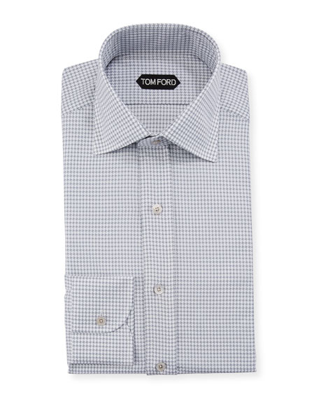 TOM FORD Men's Grand Pied Pe Poule Dress Shirt