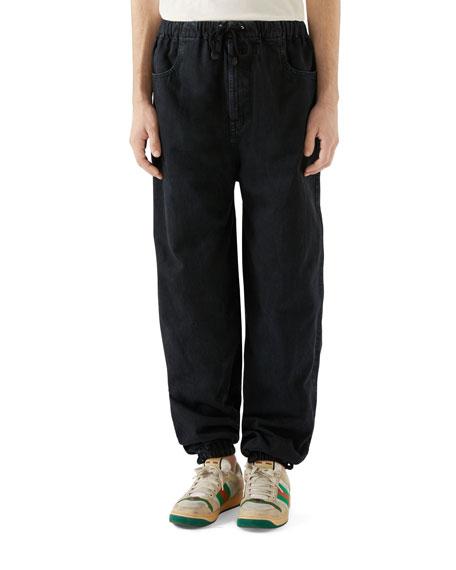 Gucci Men's Denim Harem Pants
