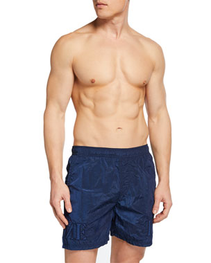 e0bd822483 Stone Island Men's Logo-Embroidered Swim Trunks